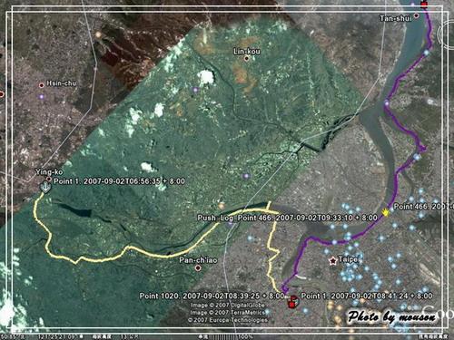 這一次的路線圖 1. 鶯歌到中和 2. 中和到淡水