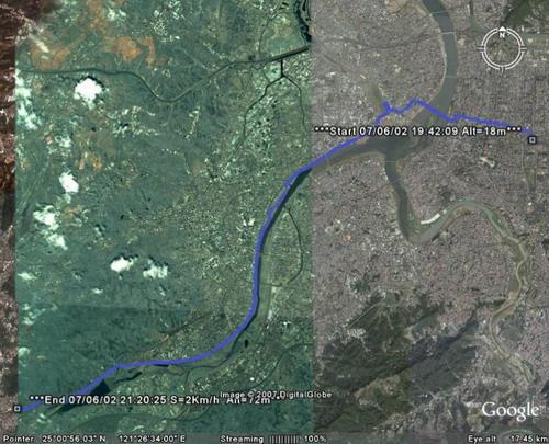 北科 鶯歌 Google Earth 路線圖